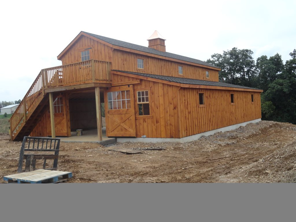 36 48 Monitor Barn With Deck J N Structures