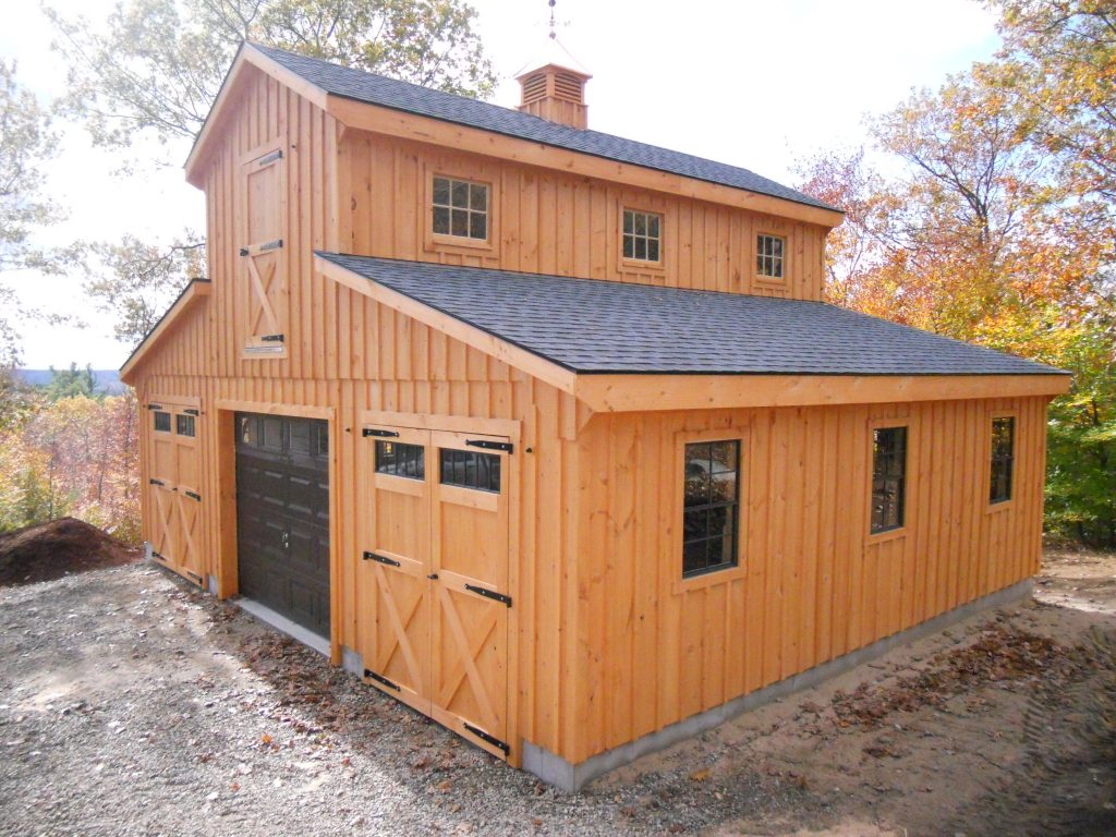 Barn shop plans for Wood pole barn plans free