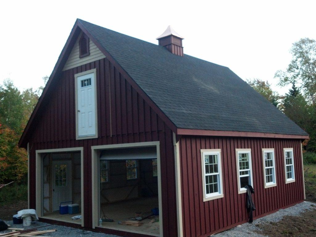 Holbrook 24x30 12 pitch garage j n structures for Garage 24x30