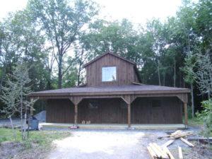 Brown Siding Outbuilding