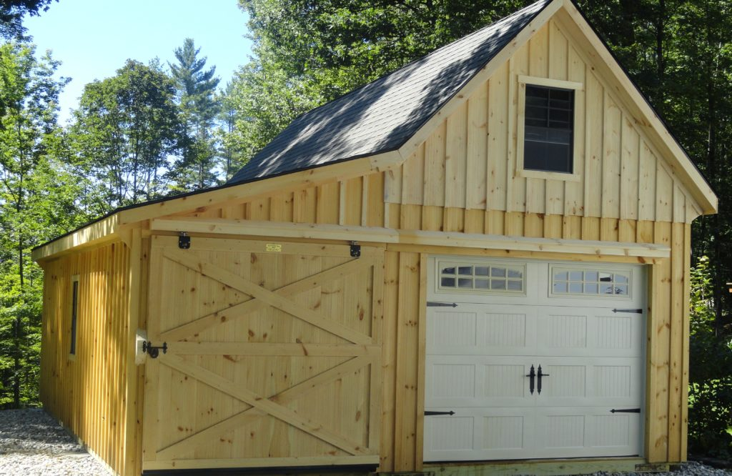 12 Pitch 12x30 Garage With 8 Lean To J Amp N Structures