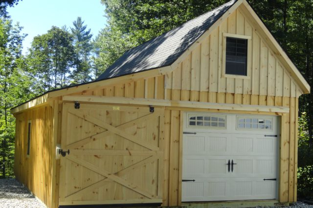 12 Pitch 12×30 Garage With 8′ Lean To