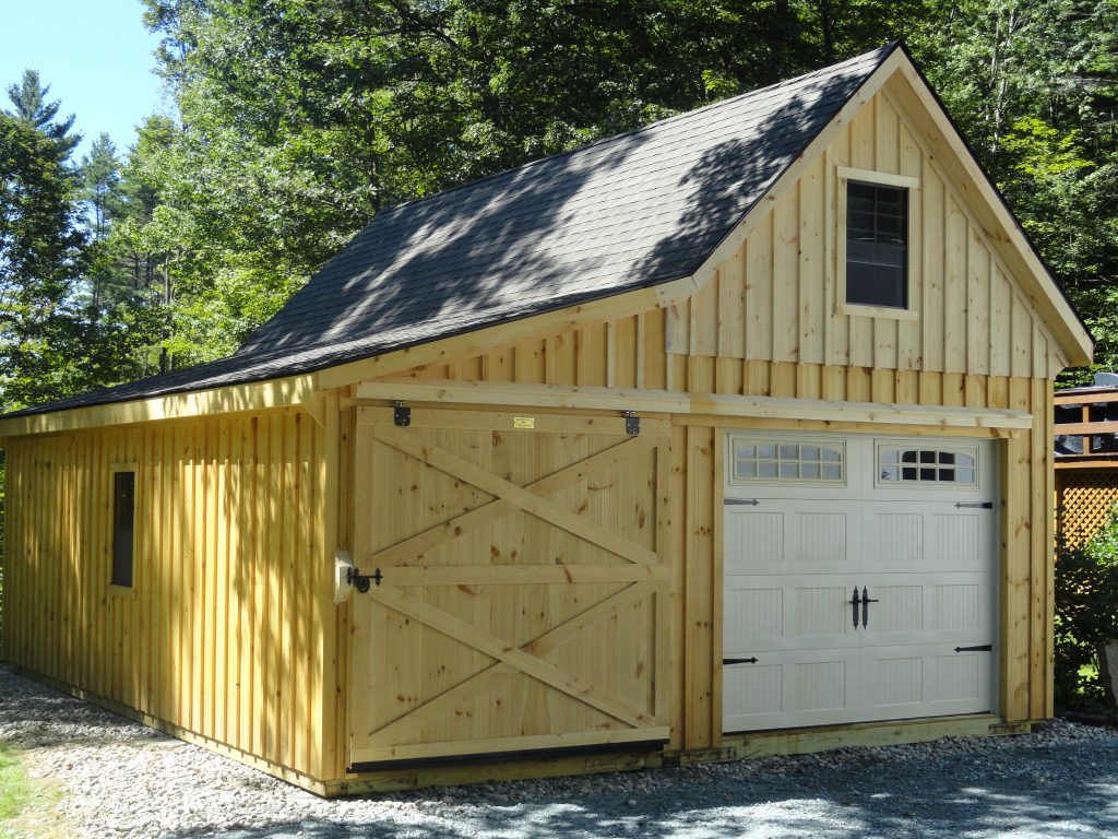 12 pitch 12x30 garage with 8 39 lean to j n structures for Garage with lean to
