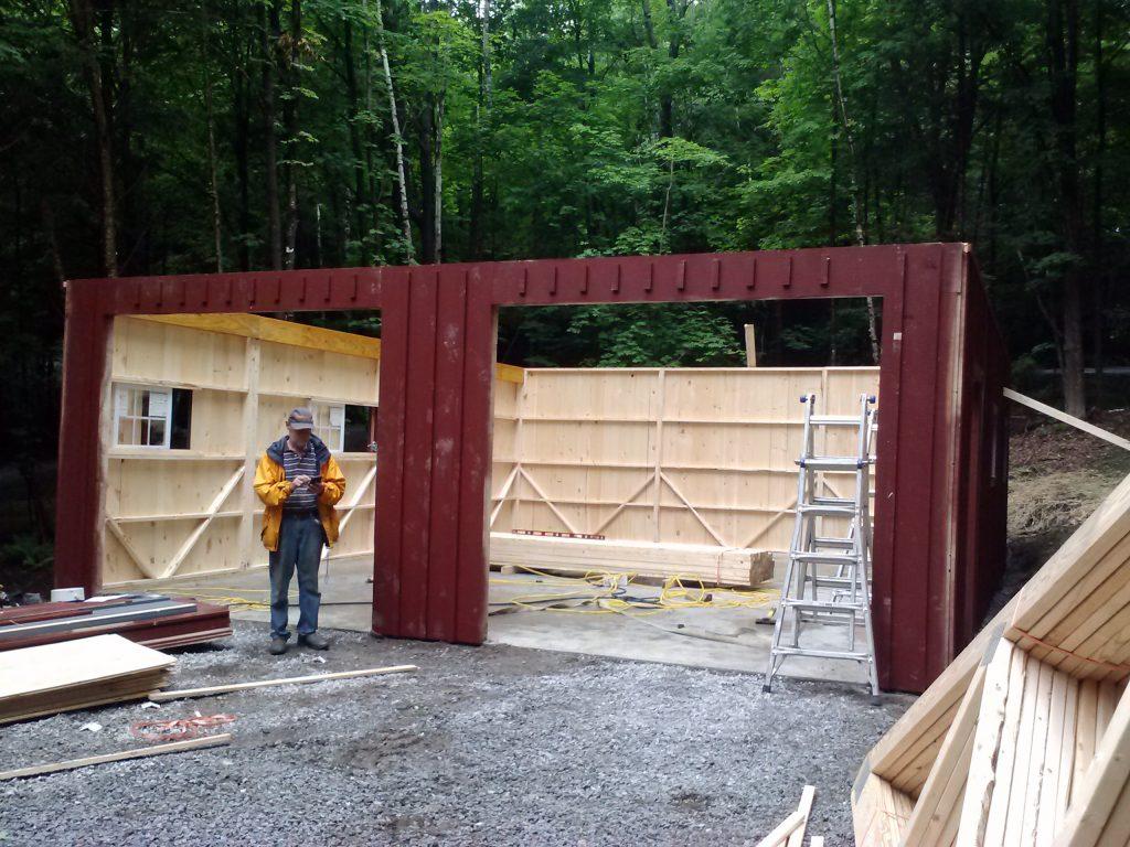 18x24 custom garage j n structures for Pacchetto garage 24 x 30