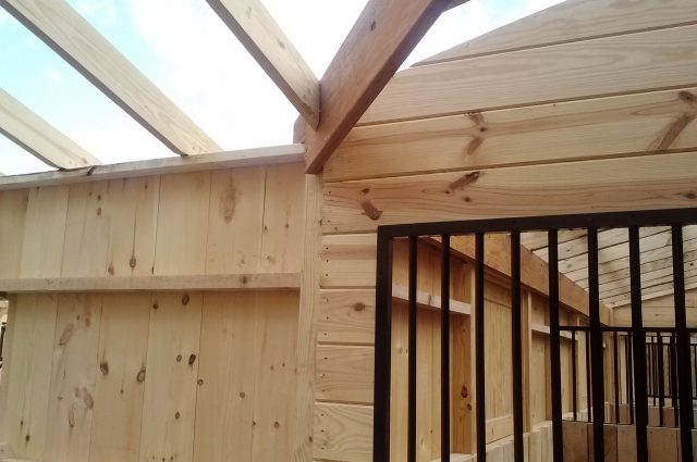 Horse Stall Open Roof