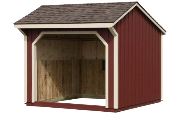 10×10 Run-In Shed w/Red Paint &