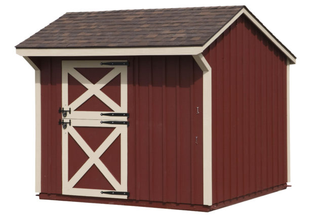 10×10 Shed Row Barn w/Red Paint