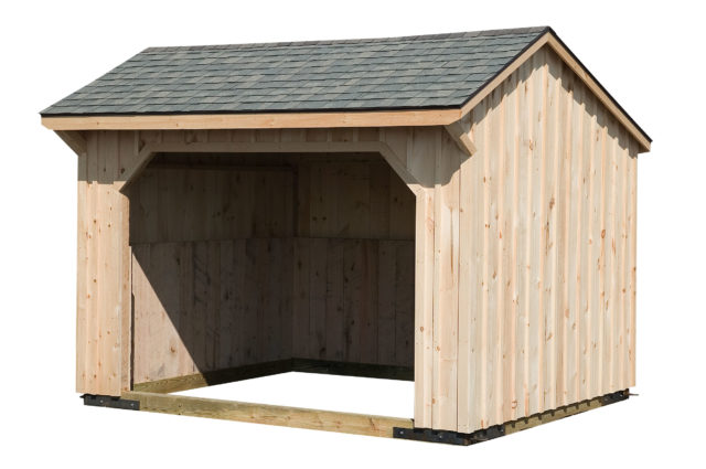 10×12 Run-In Shed w/Architectural Shingle