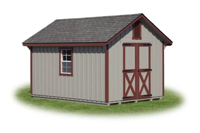 Gray Painted Pitch Cape Shed