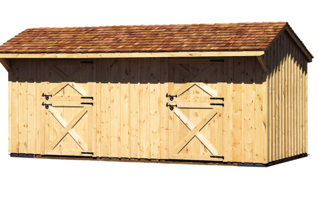 10×24 Horse Barn with Cedar Roof