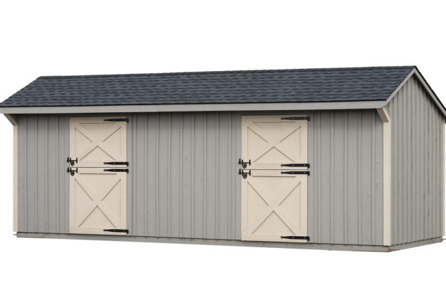 10×24 Shed Row Barn Charcoal Shingles