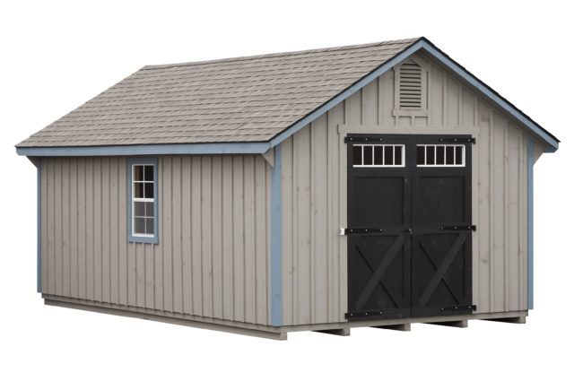 12×20 Cape Shed Pewter