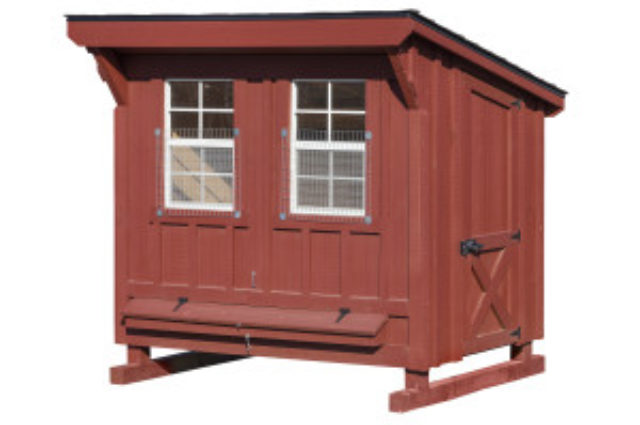 4×6 Chicken Coop Red Paint