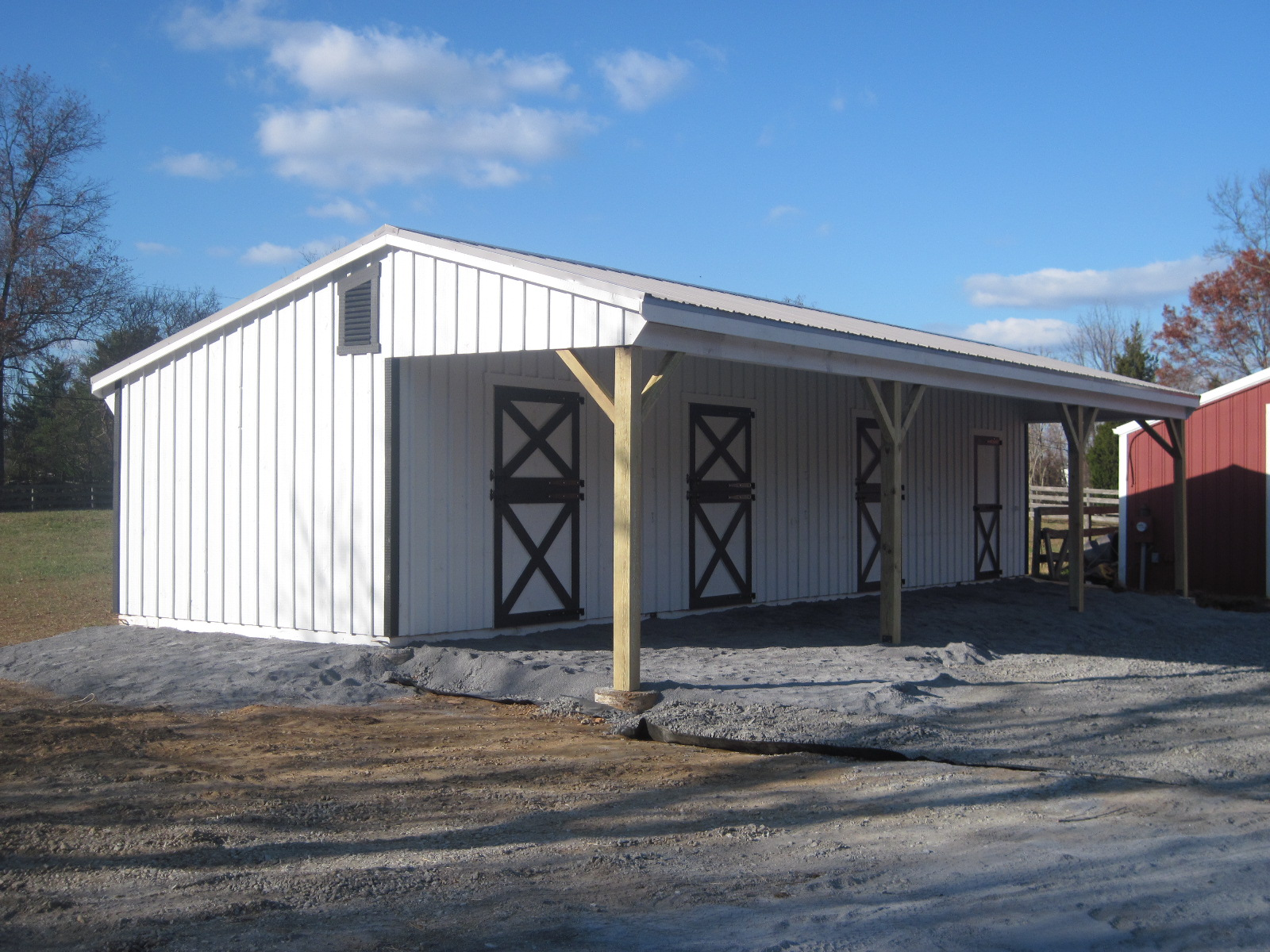 18x30 covered lean to barn j n structures for Lean to barn