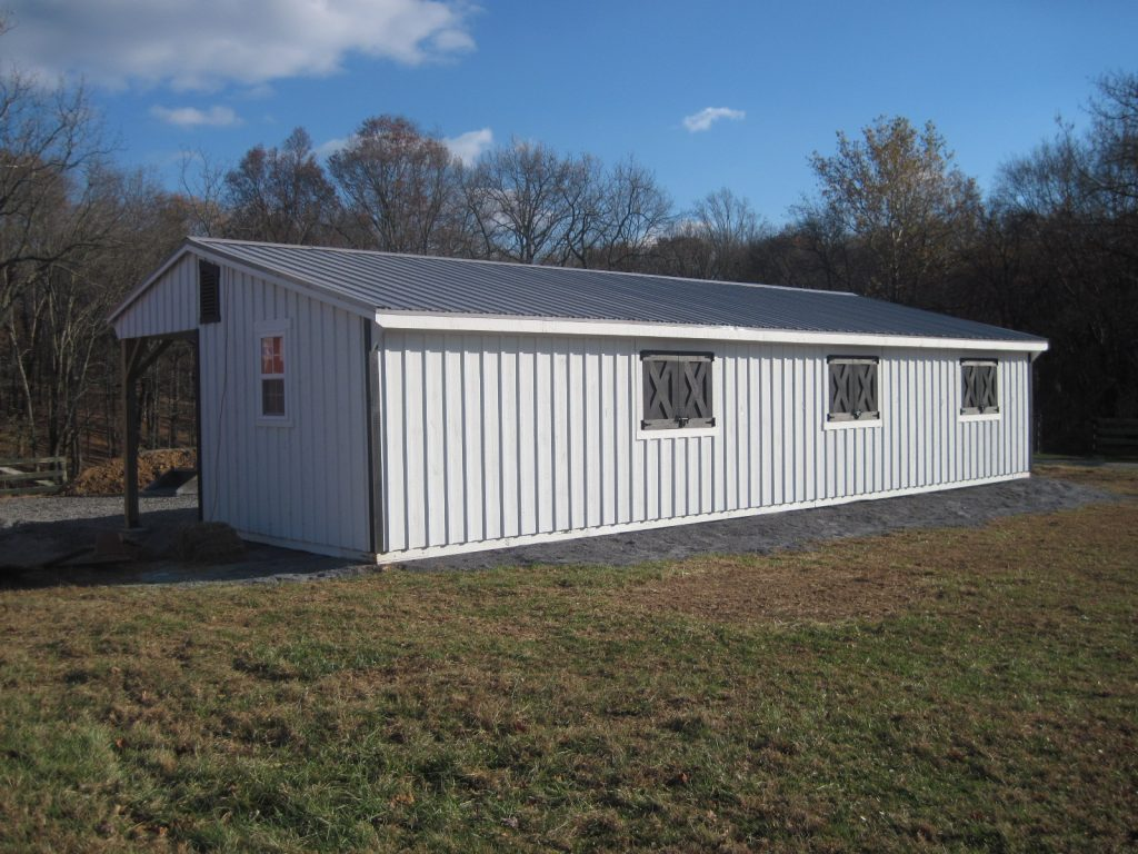 18x30 Covered Lean To Barn J Amp N Structures