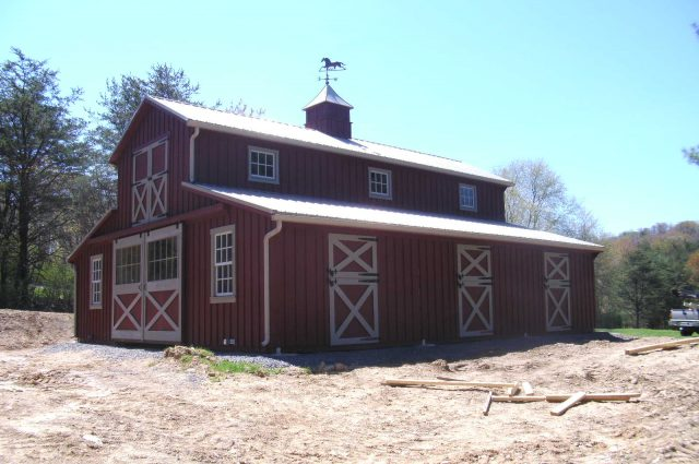 Amish Built Custom Horse Barns