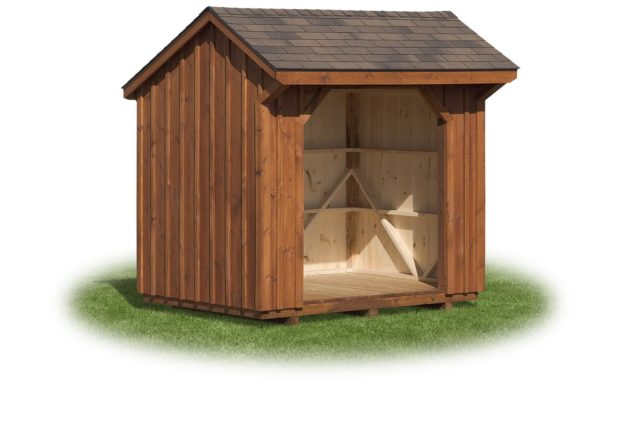 Stained 6×8 Wood shed