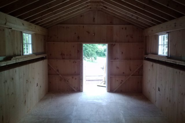 Storage Shed Interior