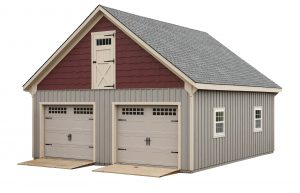 Custom 2 Car Garage