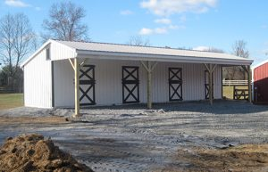 Lean-To Horse Barns