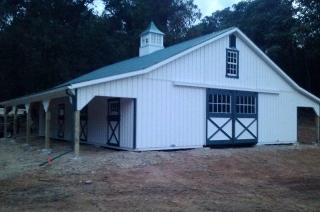 White Modular Barn