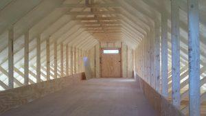 Inside Loft of a Modular Barn