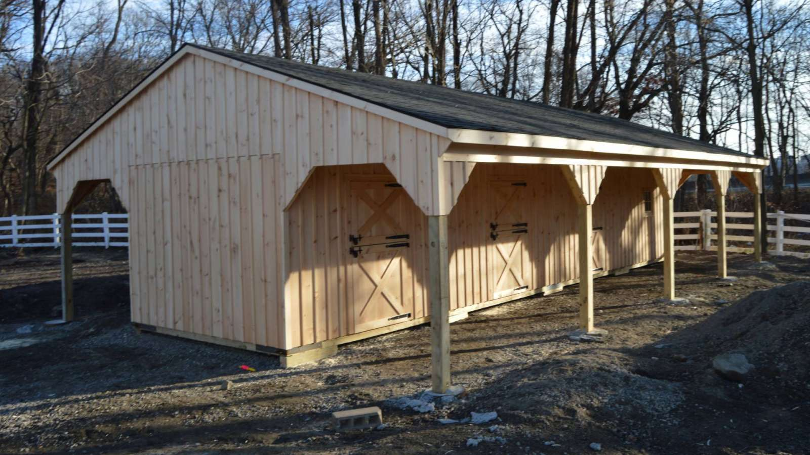 Custom Shed Row Barn Bronx Ny J Amp N Structures