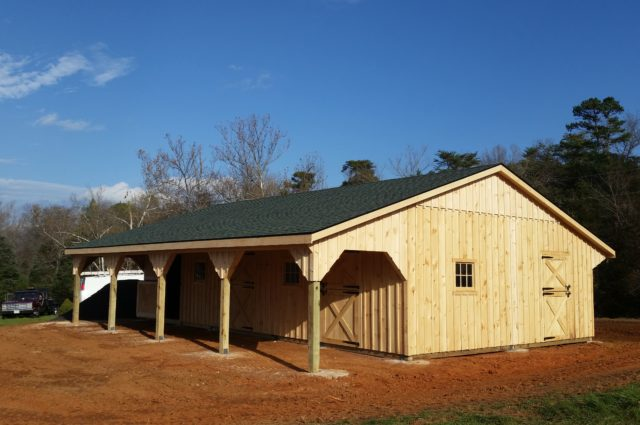 Custom 24'x40′ Barn – Rixeyville, VA