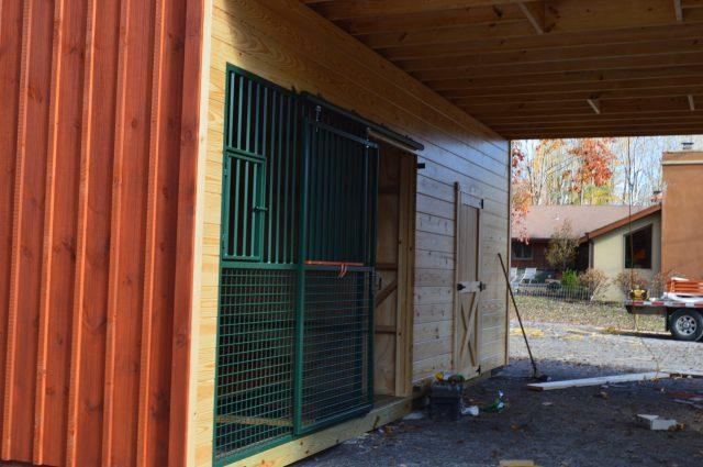 Dark Green Stall Door