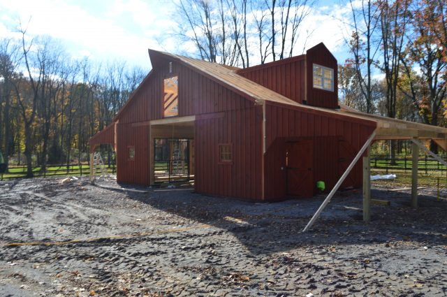Two Story Barn with Lean-To