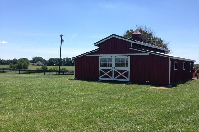 completed lancaster style barn