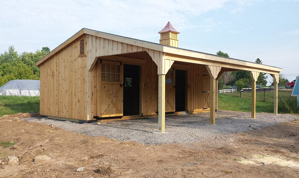 Custom Shed Row Barn Hilton Ny J Amp N Structures