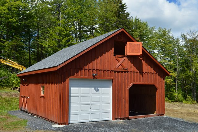 garage double width 8 pitch barn