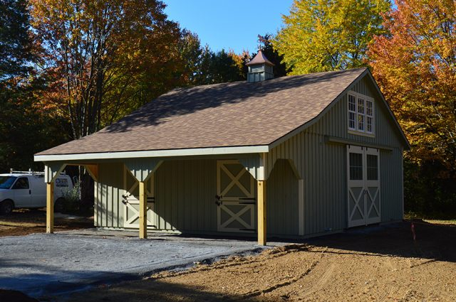 horse barn with stalls
