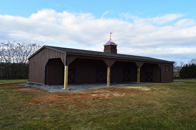 Amish Built Shed Row Barn