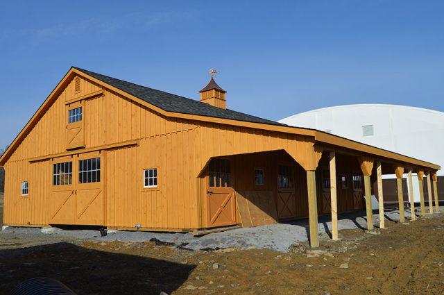 Side of Horse Barn