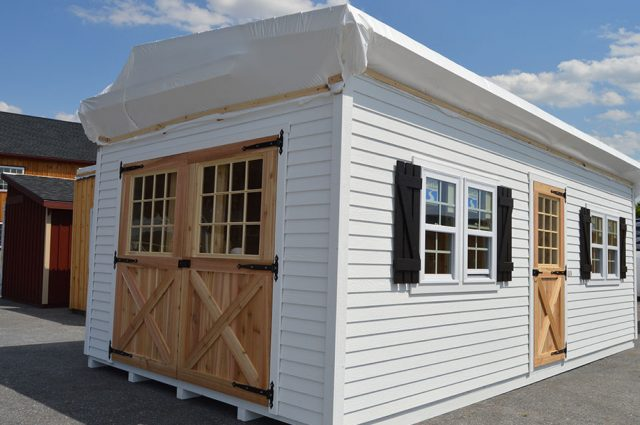 White Custom Shed