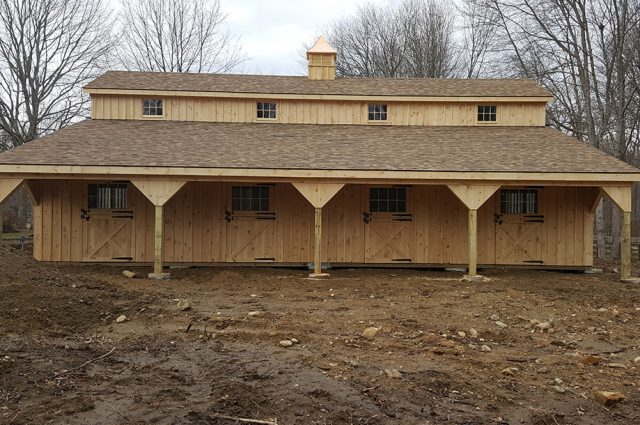 Custom Amish Horse Barns