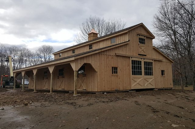 Handmade Amish Horse Barns