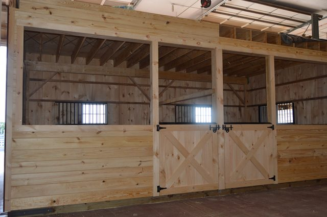 High Country Style Horse Stalls