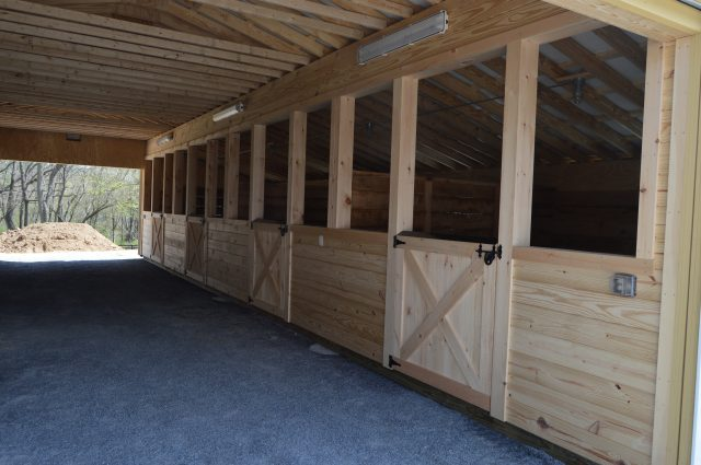 New Horse Stalls in Middleburg