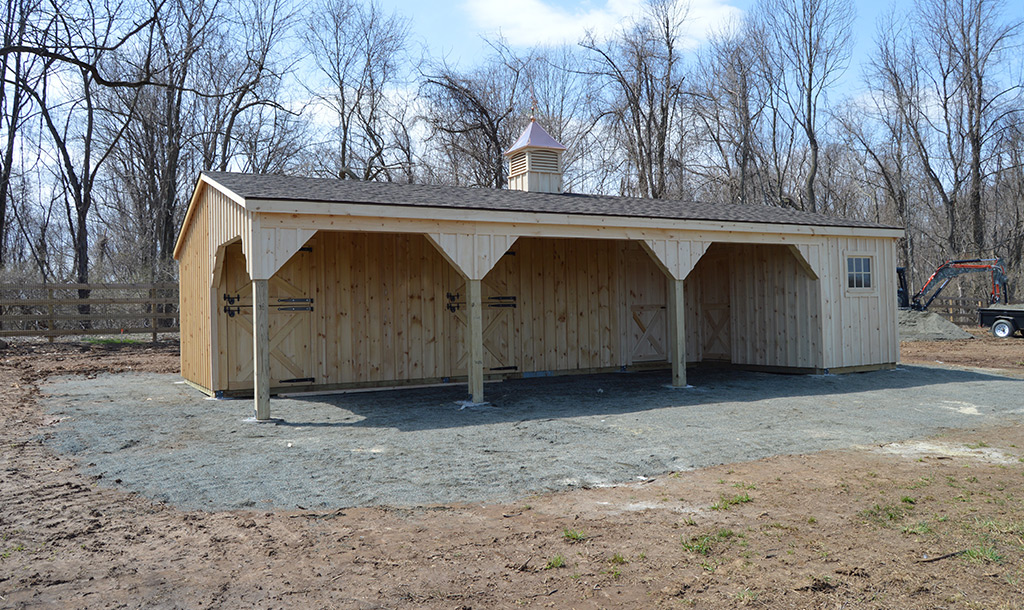 Malvern, PA shed row barn with 10' lean-to