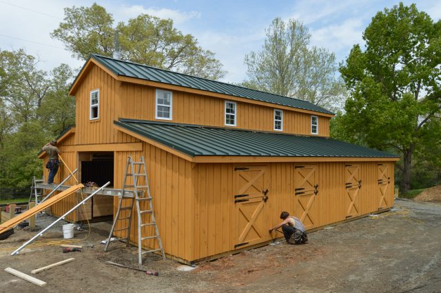 Modular Barn Progression in Stanardsville VA