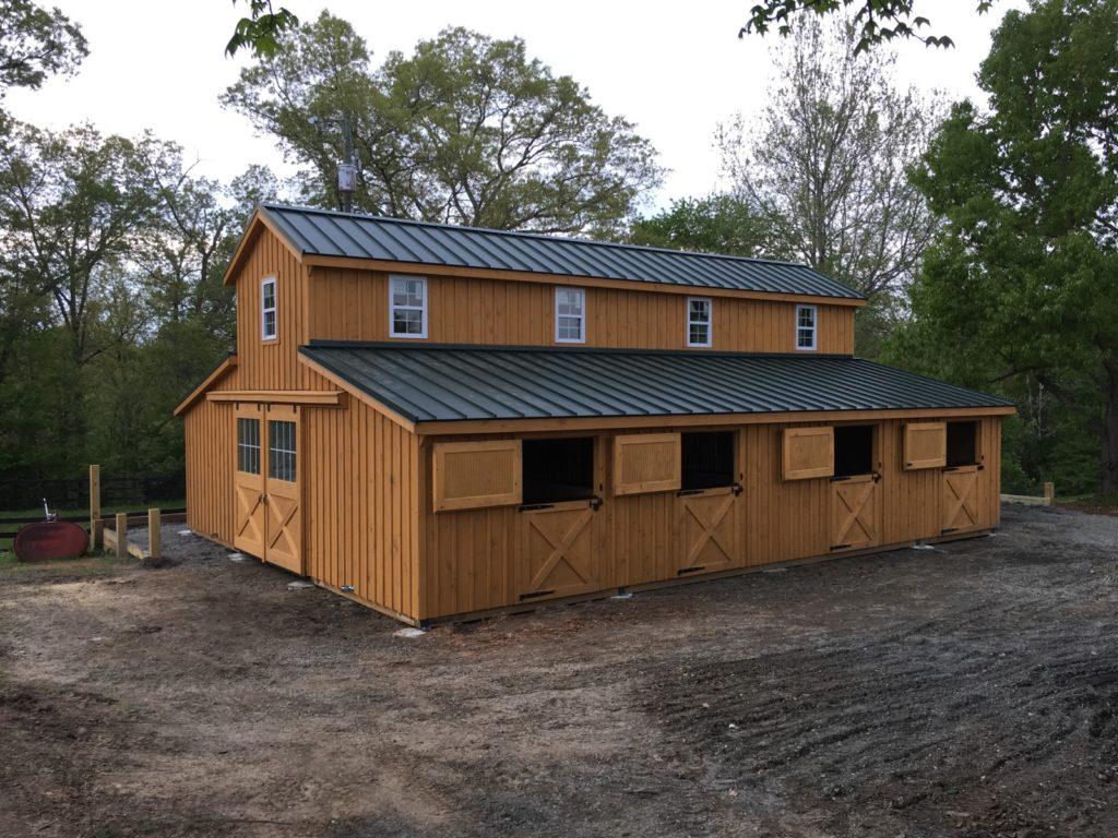 Stanardsville Va Modular Barn Monitor Style J N Structures