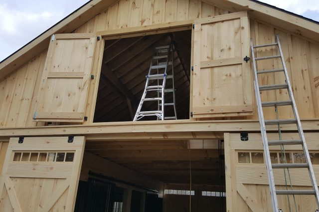 Modular Barn with Loft in MA