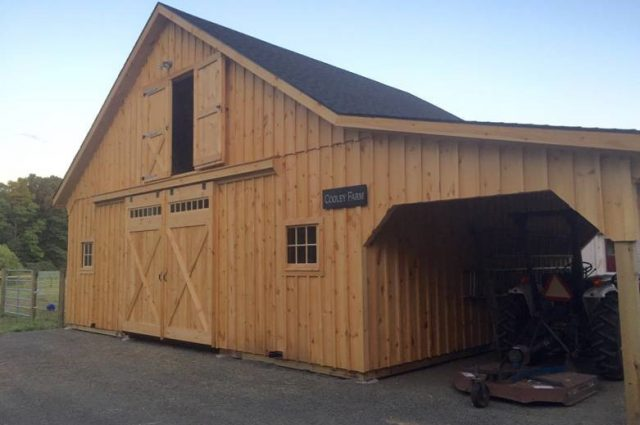 Modular Barn With Lean-To Leverett, MA
