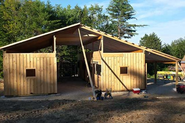 Ossipee Barn Construction