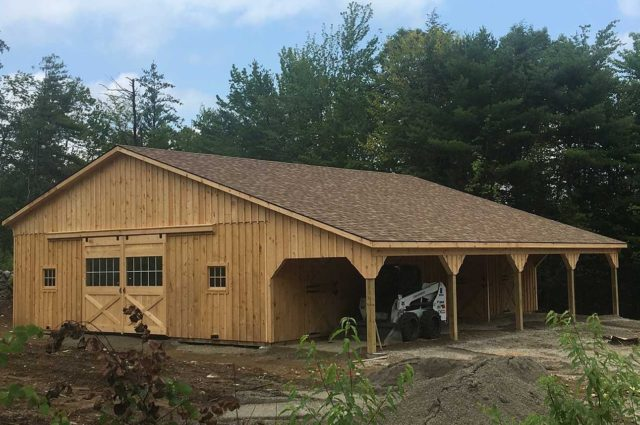 Modular Barn with Lean-To – Ossipee, NH