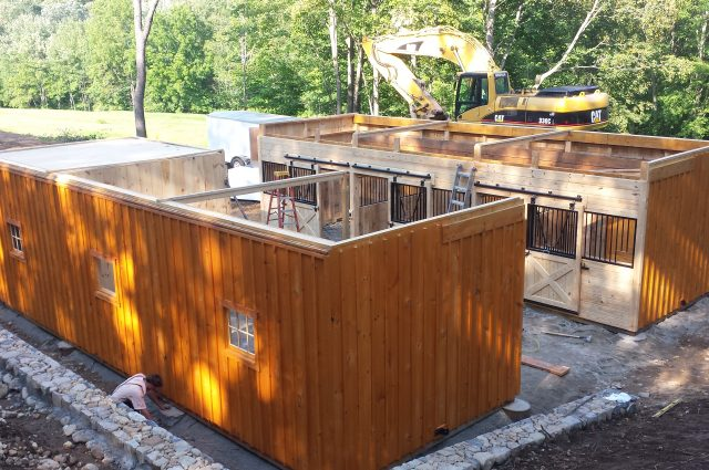 Modular Barn Construction in Oxford, CT