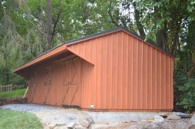 4 Inch Lean to Barn